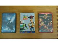 3 DVDs for sale