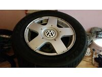 vw.audi.seat. alloys wheels with new tyres
