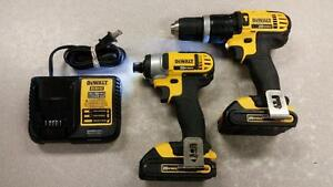 20V DeWALT Hammer Drill and Impact Driver Combo Set
