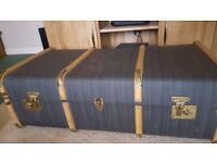 Vintage Cabin/Steamer Trunk In Very Good Condition