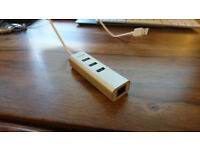 Anker 3-port + Ethernet USB-A hub (like-new)