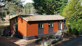 Holiday Lodge in the Cairngorms national park, river front location.