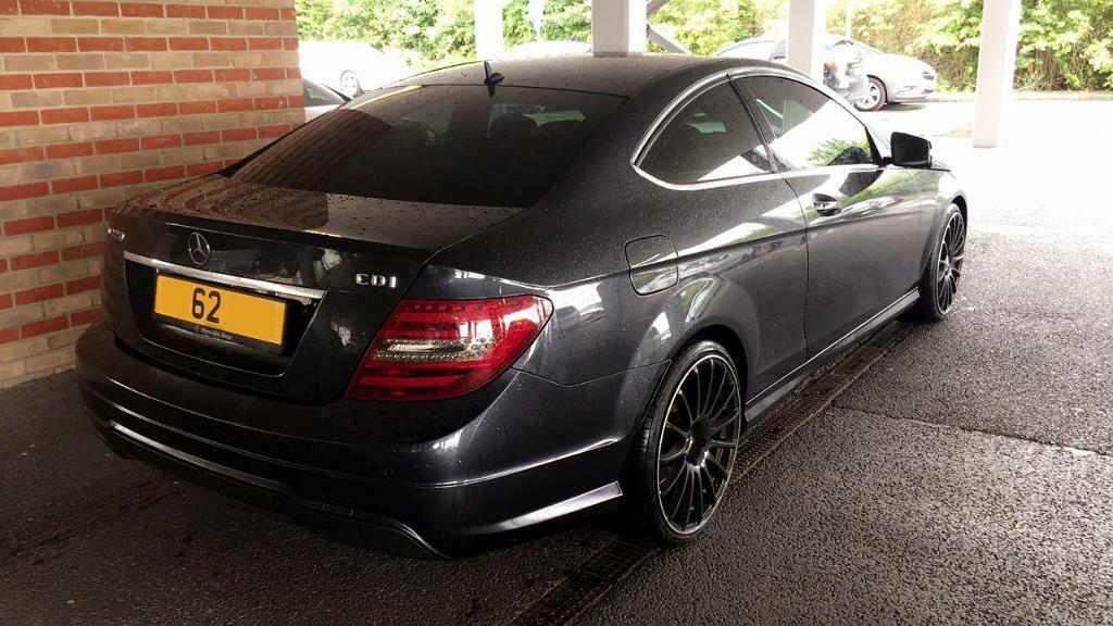 mercedes c class coupe c220 cdi c63 amg styling 2012 in adamsdown cardiff gumtree. Black Bedroom Furniture Sets. Home Design Ideas