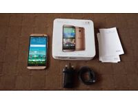 HTC ONE M8 UNLOCKED WITH BOX AND ACCESSORIES