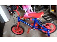 "Toddler Boys Bicycle with stabilisers, 12"", 3-6 years old, GOOD CONDITION"
