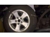 2002 daihatsu terios alloy wheel with tyres new 205-70-15