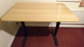 Motorised Standing Desk. For sitting & standing. BEKANT Ikea model. In very good condition.