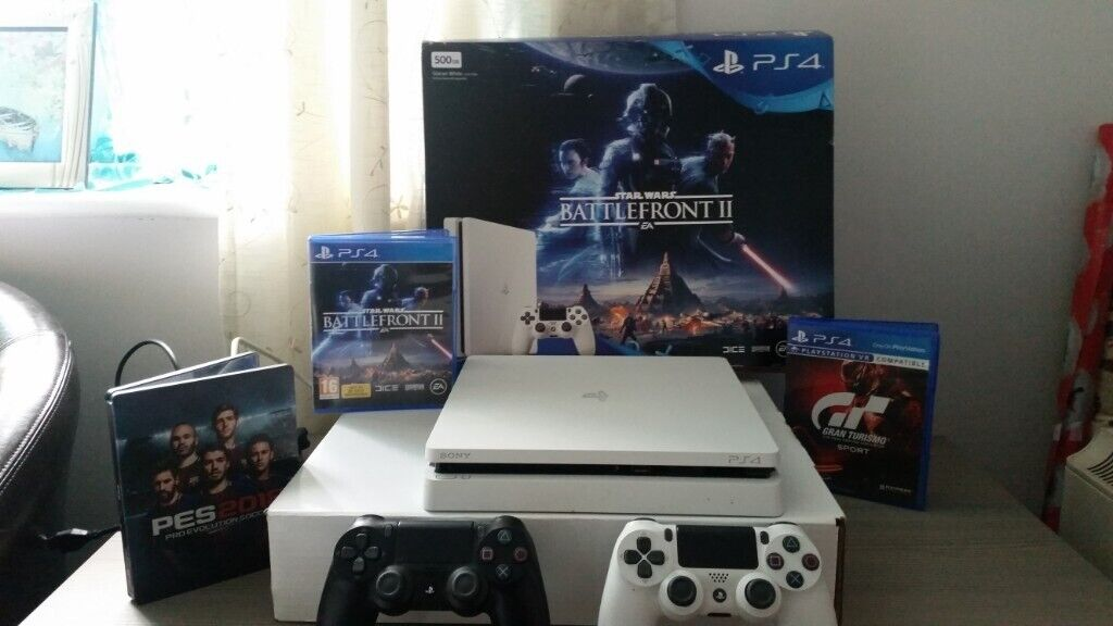 ps4 with 3 x games plus 2 hand held controls | in Tamworth, Staffordshire |  Gumtree
