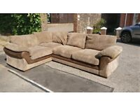 Corner Sofabed, in great condition, light brown, Harvey's Lullaby COLLECTION ONLY