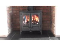 charnwood island TWO woodburning-multifuel stove11KW