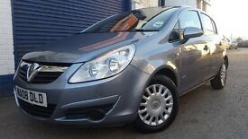 2008 VAUXHALL CORSA LIFE A/C S-A SILVER LOW MILEAGE NEW MOT NEW CHAIN KIT
