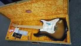 NEW Fender 50th anniversary stratocaster Sunburst with original hardcase