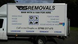 Man with van removal services single items to full house moves