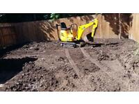 Mini digger - Gardens - Drives - foundations - drains - landscaping -