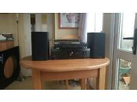 Denon turntable and amp plus wharf edale speakers