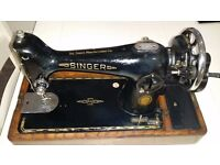 Antique/vintage Singer 201k sewing machine. Very All Saints!