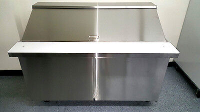New Sclm2-60 60 Stainless Steel Salad Prep Table Station Refrigerator Mega Top