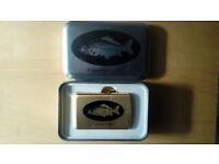 Brand New Carp Fishing Petrol Lighter Cyprinus Carpio Gold Colour