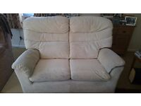 G Plan Large 2 Seater Cream Sofa