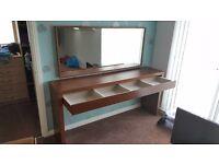 IKEA Dressing table (Drawer) & Mirror DARK BROWN