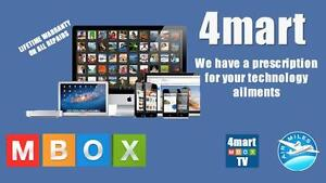 ANDROID TV  MBOX  BY 4MART , 9 MODELS LIFETIME SUPPORT 2 YEAR WARRANTY