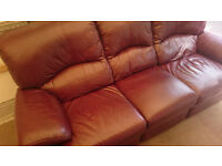 Lazy Boy Leather 3 seat recliner sofa settee amazing quality