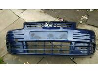 Vw caddy front bumper colour coded shadow blue