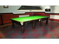 12x6 snooker table steel blocks solid mahogany