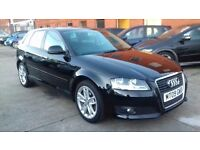 AUDI A3 1.9 TDIE SPORTBACK , FACE LIFT NEW SHAPE, FSH, 2009 REG, ONLY £30 TAX!