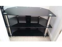 TV Stand with Tempered Glass,Very Good Condition