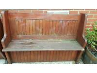BENCH CHURCH STYLE JUST NEEDS VARNISHED/PAINTED IN GREAT ORDER