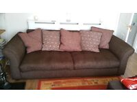 DFS 3 seater sofa for sale. Brown. Used good condition