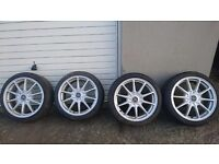 """WOLFRACE 17"""" ALLOYS - 5X114.3 - HONDA - LEXUS - HYUNDAI - AND MORE - JAP - TRD - I WILL POST IN UK"""