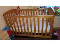 Mamas and papas cot bed (like new)
