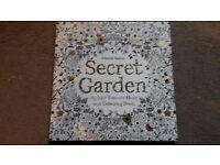 "Brand new Johanna Basford ""Secret Garden"" colouring book – unused"