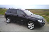 Jeep Compass Limited CRD 2011 in excellent condition. Full leather and sat nav