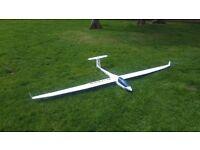 Jamara Discus cs 2.6 metre span powered glider rc model aeroplane