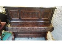 Beautiful Walnut 'Crane & Sons' Upright Console Piano - CAN DELIVER