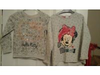 2x sweaters girls minnie mouse & hello kitty
