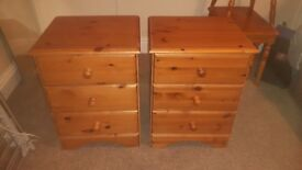 Bedside chest of drawers x 2