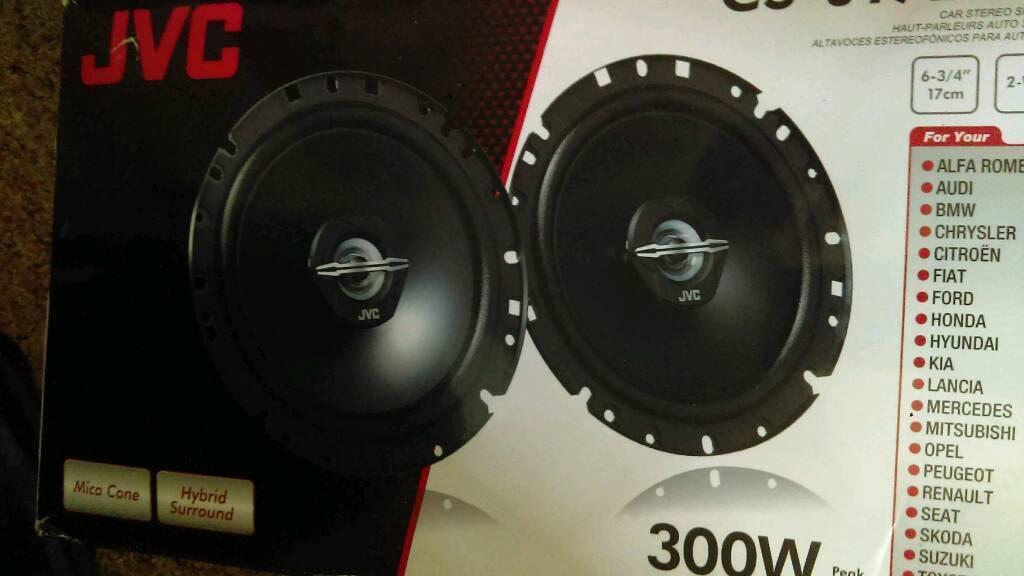 JVC 300 watt speakers