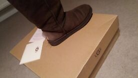 Tall Brown Genuine Ugg Boots size UK 7