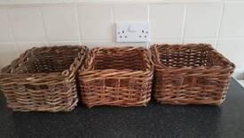 Shabby chic wicker baskets Ikea rattan