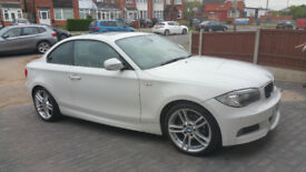 BMW 1 SERIES 2.0 120I M SPORT PREMIUM WHITE EDITION 2DR AUTOMATIC + FULL SAT NAV + EXTRA FEATURES