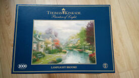 Thomas Kincaid Lamplight Brooke 2000 piece jigsaw