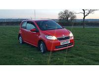 2014 Skoda Citigo SE 12v 1.0 Petrol Manual 3 Door Hatchback Red Low Mileage!!