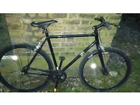 Dunlop Fixie Track City Bike fixed wheel Single Speed Slick Road Tyre - black very good state