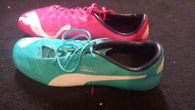 Puma EvoPower 1 Football Boots (Pink/Blue)
