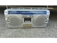 Vintage SHARP STEREO RADIO CASSETTE RECORDER BOOMBOX GF-5454 GHETTO BLASTER