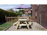 Extra strong / large 6 ft pub style picnic bench